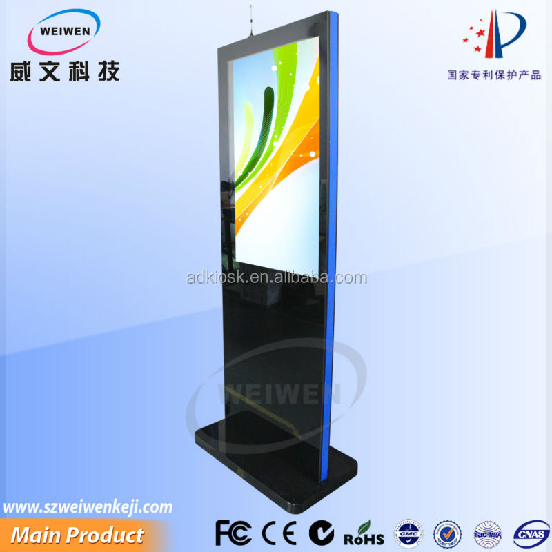 42 inch floor standing hd lcd screen wifi network mall advertising kiosk transparent lcd showcase