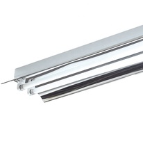 Fluorescent grille lamp with aluminium reflector