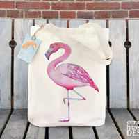 Wholesale Flamingo Print Cotton Tote Bag