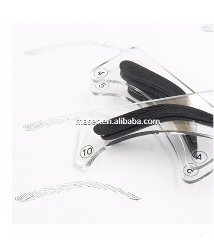 Best Selling 3D Effect Eyebrow Stencil/Eyebrow Shaping Tools/Eyebrow Stamp