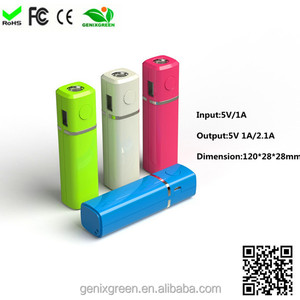 Portable Charger tube power bank 3200mAh Ultra-Compact Power Bank Premium Aluminum External Backup Battery Pack