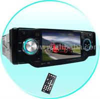 1-Din TV Tuner + Bluetooth Car DVD Player-Plays DivX + MP4