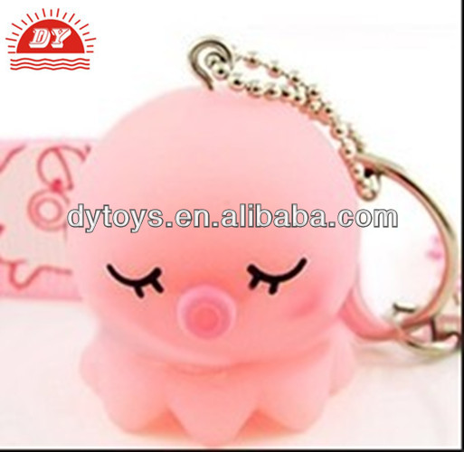 New product cute soft plastic octopus keychain figure
