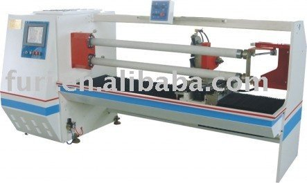 Automatic Dual Shafts BOPP Adhesive Tape & Plastic Film Roll Cutting Machine