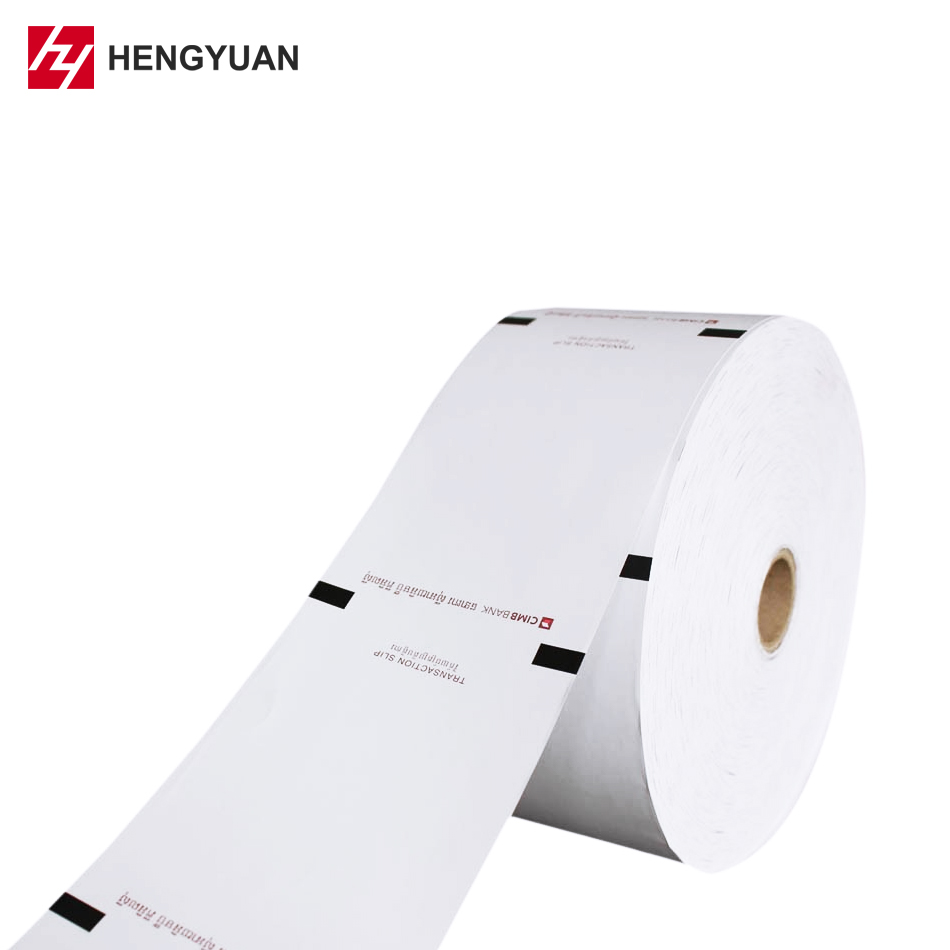 80mm Pre-Printed ATM Thermal Paper Roll For Bank CMYK/Pantone Color
