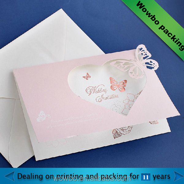 new products wedding invitation paper cards made in china