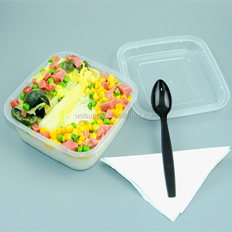 Disposable Square PP Plastic Takeaway Food container