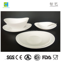 New design opalware opal glassware with oval shape dinnerware for 5 star hotel