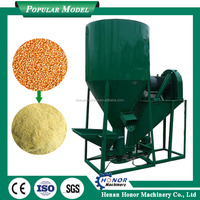 Carbon Steel Corn Crusher And Mixer Livestock Feed Processing Machine