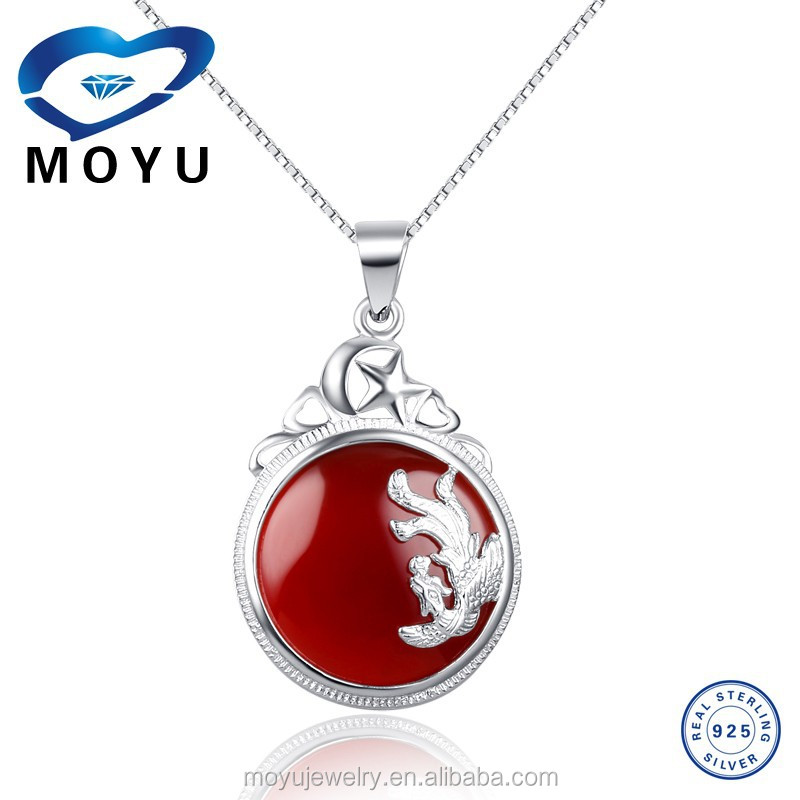 Wholesale body jewelry natural phoenix red agate pendant for Body jewelry cheap prices