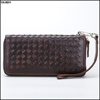 New wholeslae woven leather wallet men/fashion wallet/wallet men genuine leather