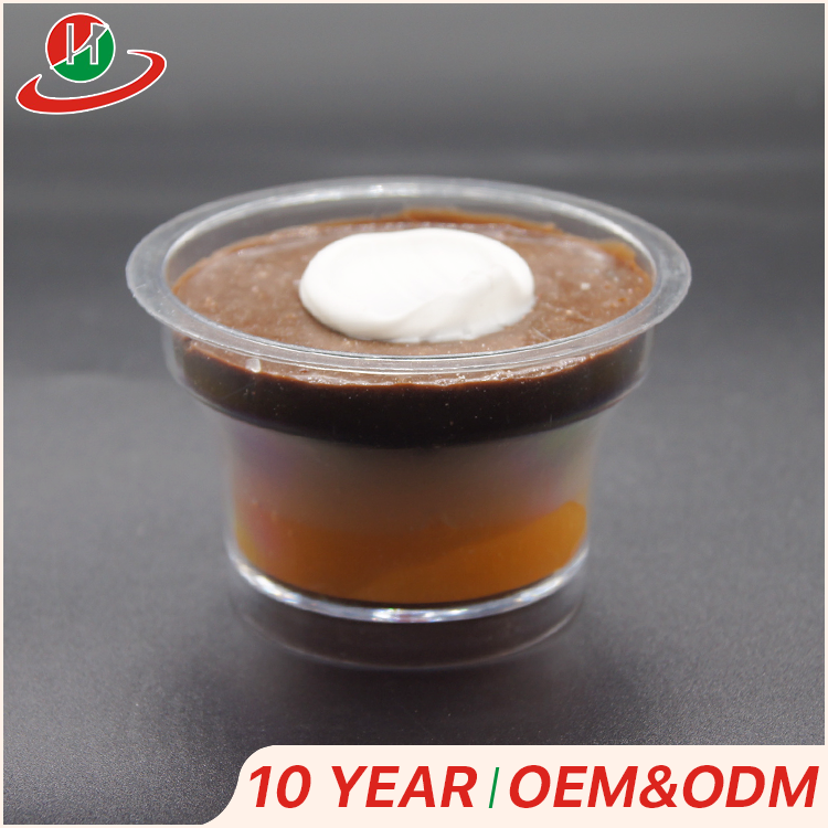 Custom disposable plastic cup food safe 90ml PS PP clear plastic dessert mousse cup with lid