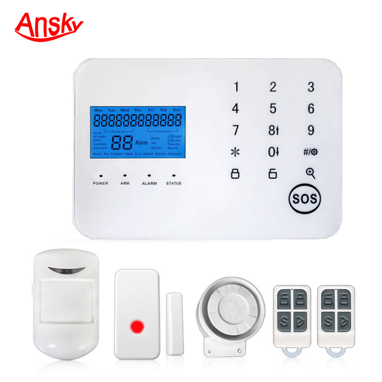 Wireless Intruder Security GSM 3G Home Alarm System with APP control and alarm relay switch for house safety and burglar alarm