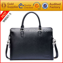 Guangzhou manufacturing real leather portfolio men's briefcase buiness bag