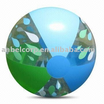 multi panel color inflatable beach ball 18inch