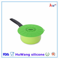 2016 hot selling food grade silicone pot cover spill stopper lid