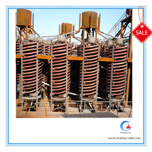 gold mining plant spiral chute separator, large capacity spiral concentrator chute for gold sand separation