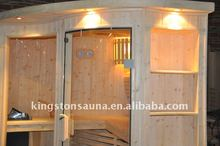 Double bench Finland Pine steam sauna room/cabin set