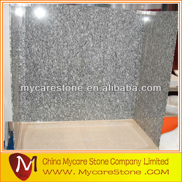 wave white granite tub surround for bathroom