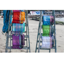 100% cotton yarn dyed PAREO TOWEL / Personalized design FOUTA beach towel / Color stripes turkish PESTEMAL bech towel