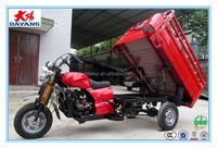 Chinese popular new style 150cc/175cc200cc light load cargo dumper trike adult three wheel motorcycle
