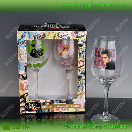 Flower shape stemware wholesale wine glasses cup
