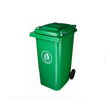 color coded large garbage bin