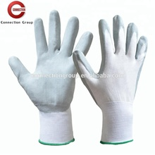 Nitrile Foam Coated Glove with White Nylon Knitted Liner for Safety Protection