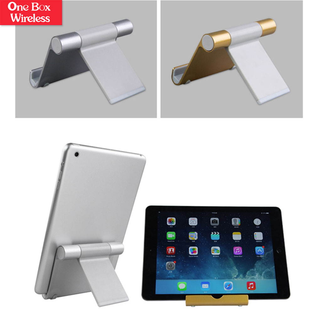 Mobile Phone Accessories Universal Aluminum Metal Mobile Phone Tablet Desk Holder Stand For ipad Mobile Phones Display