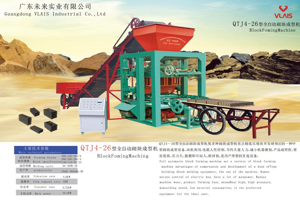 Manual QTJ4-40B concrete block machine,cement brick making machine price in india