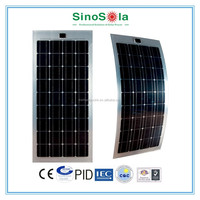 High Efficiency Light weight semi-flexible solar panel yuhuan sinosola for Solar Boat Caravan with TUV/PID/CEC/CQC/IEC/CE