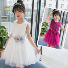 Free Sample White Party Wear Wedding Dress For Girls Of 2-6 Years