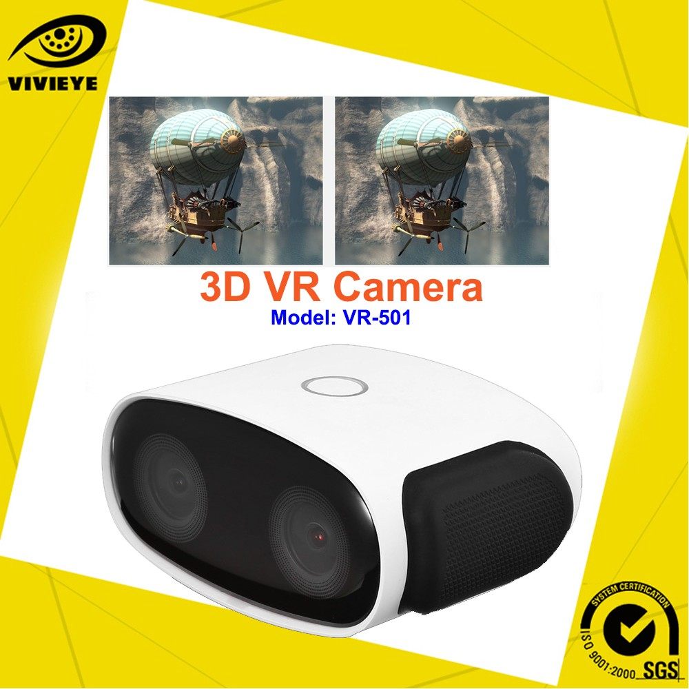 2016 New Innovation Sports Camera Consumer Level 3D VR Camera for Peronsal Use