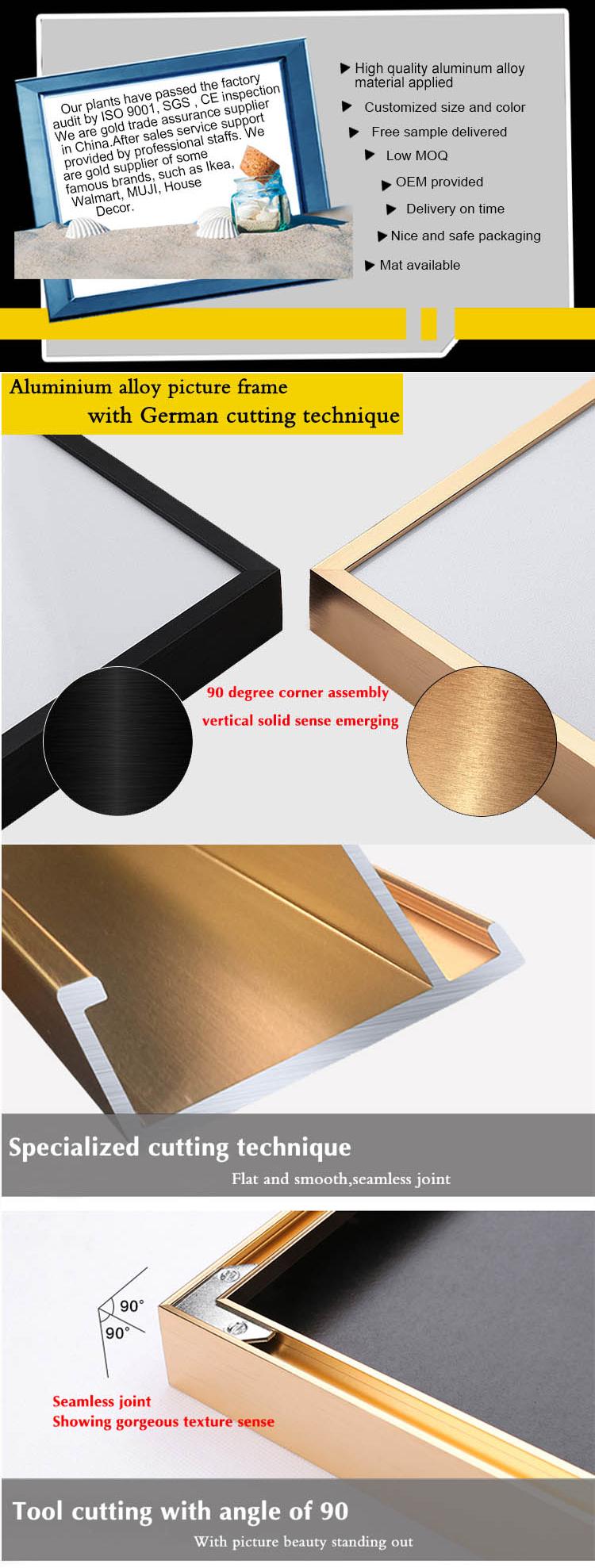 Decoración de la pared set 50x70 cm oro fino extruido fabricación ...