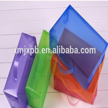 Portable hard see through small clear plastic PVC shoes box