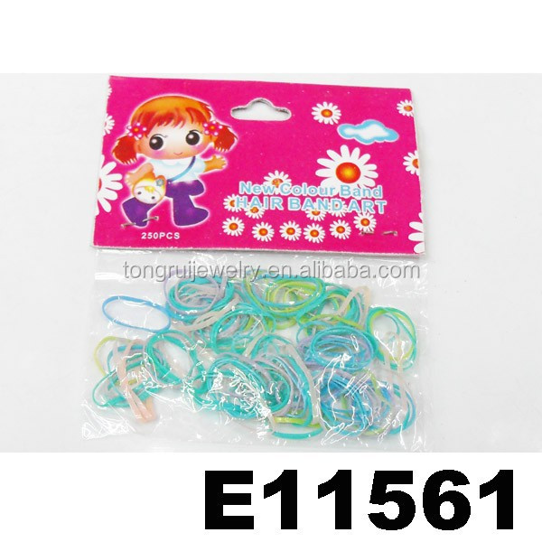 kids small elastic colour latex free hair rubber band