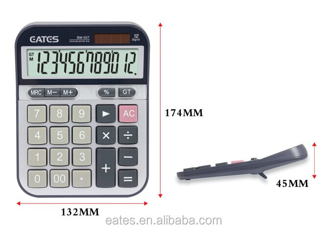Big keys and buttons electronic calculator with aluminum plate