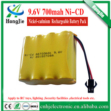 for lighting 9.6v 4+4 array 700mah rechargeable battery ni-cd batteries Ni cd AA battery operated emergency exit