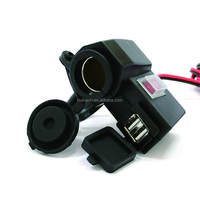 Motorcycle Dirt Bike Dual USB Cell Phone Charger Cigarette socket with switch