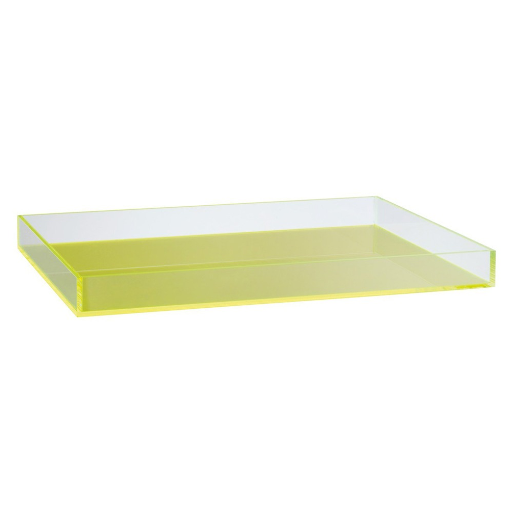 Rectangular Acrylic Tray, Custom Acrylic Vanity Tray, Lucite Cocktail Serving Tray Display Tray