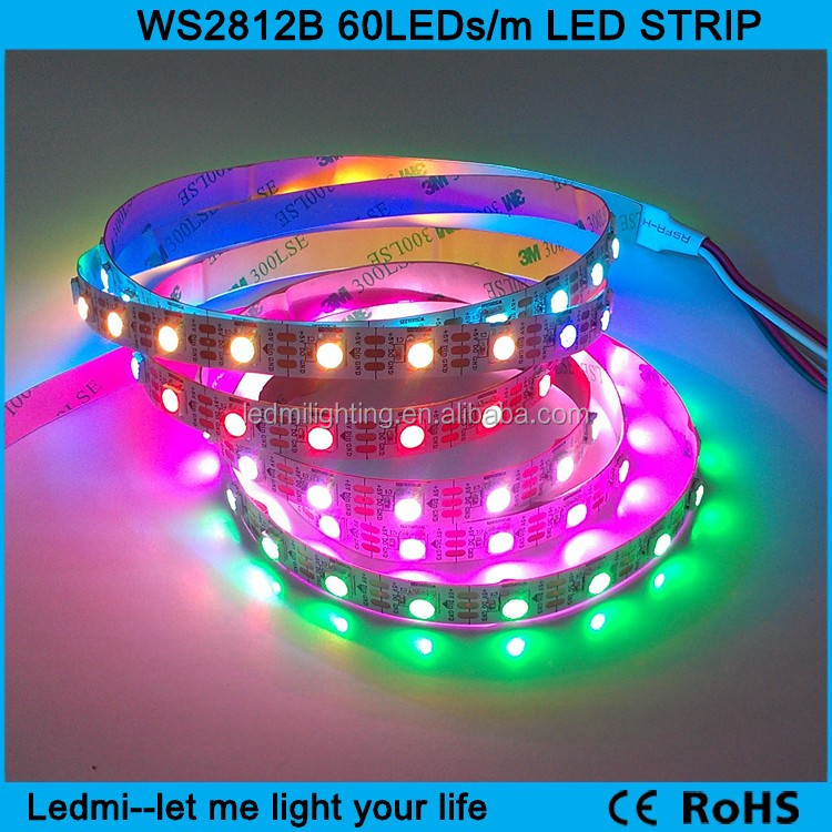 2016 hot sales addressable smart led pixel tape dc5v 60led/m ws2812b