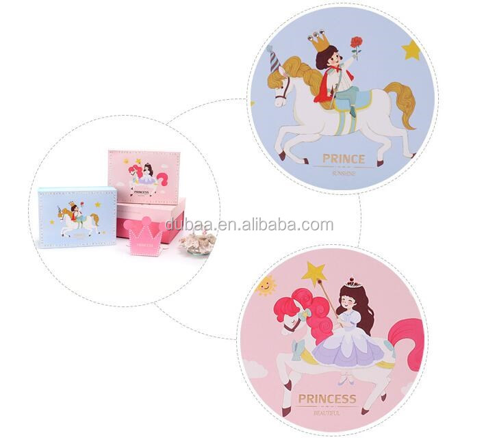 Prince Princess Children Gift Pakaging Paper Box Present Gift Package for Children Daughter & Son Gift Package Box Case