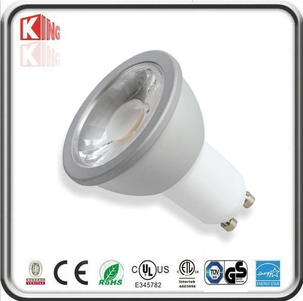 China LED Lamp 38 Degree Beam Spot Bulb Cool White 6000K 5W 12V MR16 GU10 LED Dimmable with ETL UL