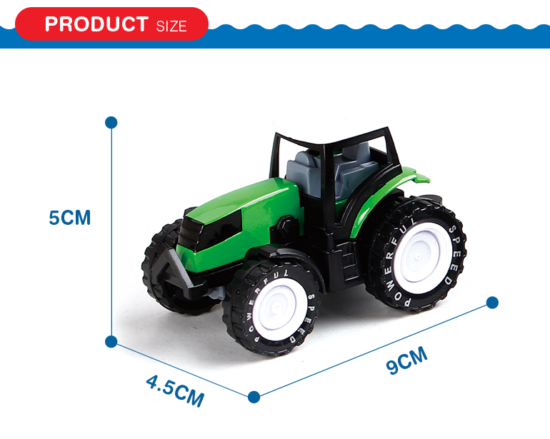 Pull back farm tractor utility vehicle diecast metal model cars form shantou factory