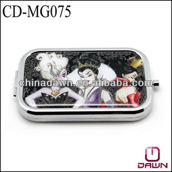 Long rectangle promotional square mirror with logo CD-MG075