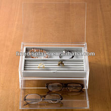 Acrylic Box 2 Drawers With Flip-Top Lid (CD-A-110)