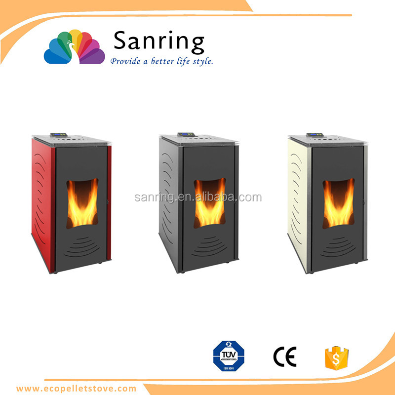 24 KW water heating wood burning pellet stove with back boiler