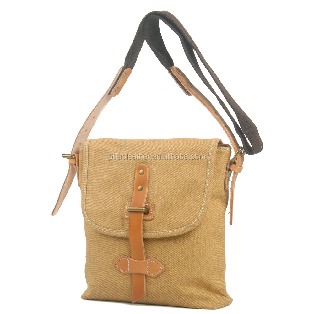 Mini canvas shoulder messenger bag with one strap