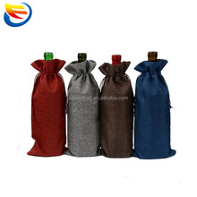 Hot sale jute wine bottle gift bag