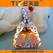 Personalized retractable pet harness TZ-PET3405 led glowing dog harness